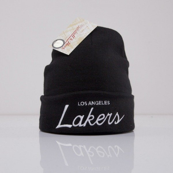 Mitchell & Ness beanie Los Angeles Lakers black Team Talk EU175
