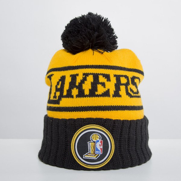 Mitchell & Ness beanie Los Angeles Lakers yellow Championship KS52Z