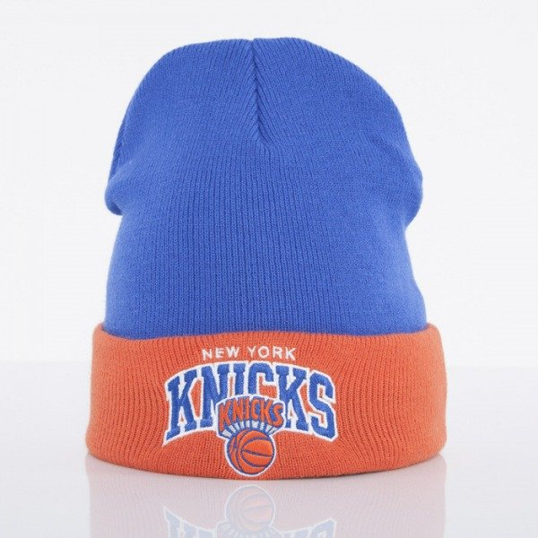 Mitchell & Ness beanie New York Knicks blue Arched Cuff Knit EU349