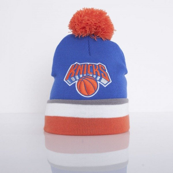 Mitchell & Ness beanie New York Knicks royal / white / orange Jersey Stripe KJ61Z