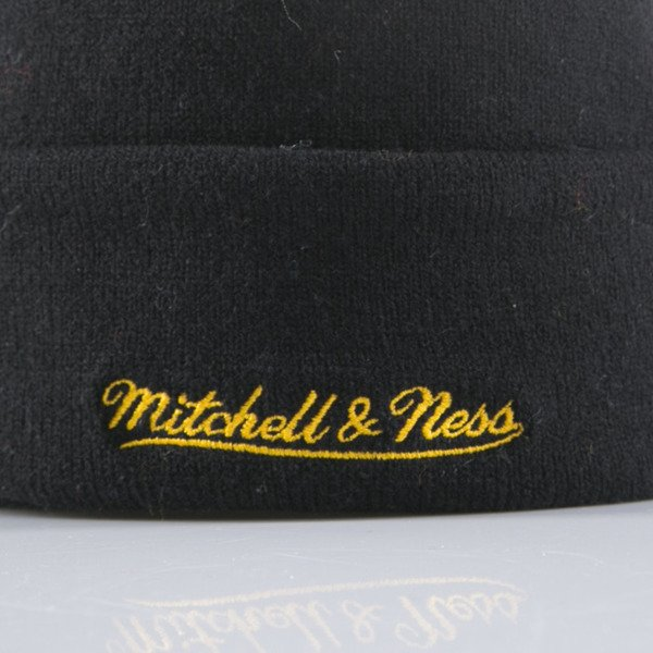 Mitchell & Ness beanie Pittsburgh Penguins black Special Script Knit Bobble KL88Z
