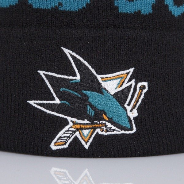 Mitchell & Ness beanie San Jose Sharks black Special Script Knit Bobble