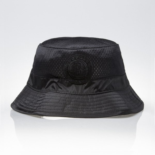 Mitchell & Ness bucket hat Brooklyn Nets black TONAL JERSEY MESH U311Z