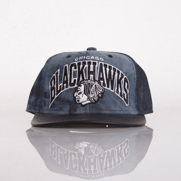 Mitchell & Ness cap Chicago Blackhawks black/denim Blk Dyed denim