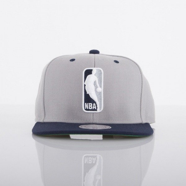 Mitchell & Ness cap NBA Logo grey / navy 2 Tone EU444
