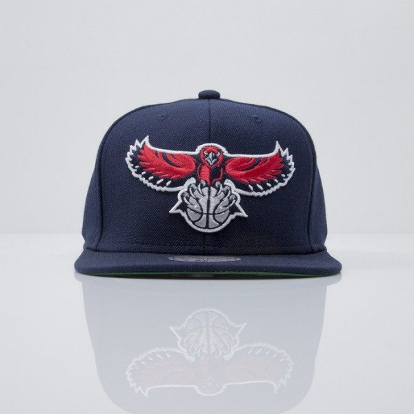 Mitchell & Ness cap snapback Atlanta Hawks navy  WOOL SOLID NZ979
