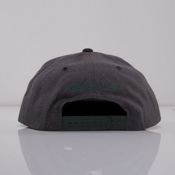 Mitchell & Ness cap snapback Boston Celtics dark grey Charcoal Dune 2Tone EU426