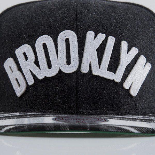 Mitchell & Ness cap snapback Brooklyn Nets EU264 LETTERMAN