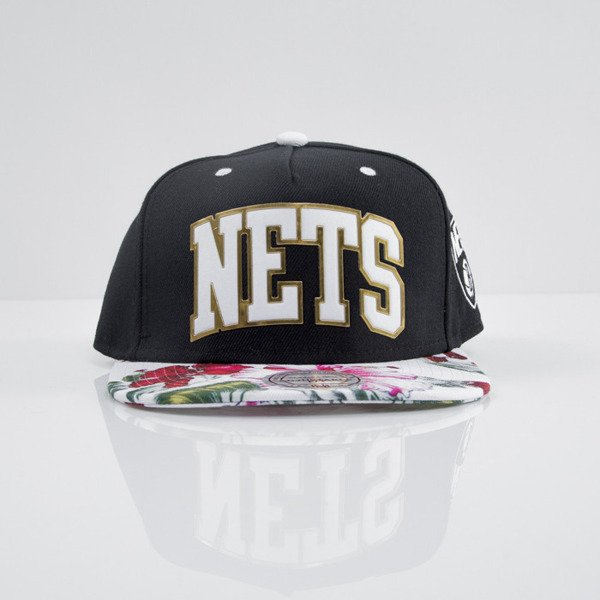 Mitchell & Ness cap snapback Brooklyn Nets black Tropical Team Colour Visor Sonic EU663