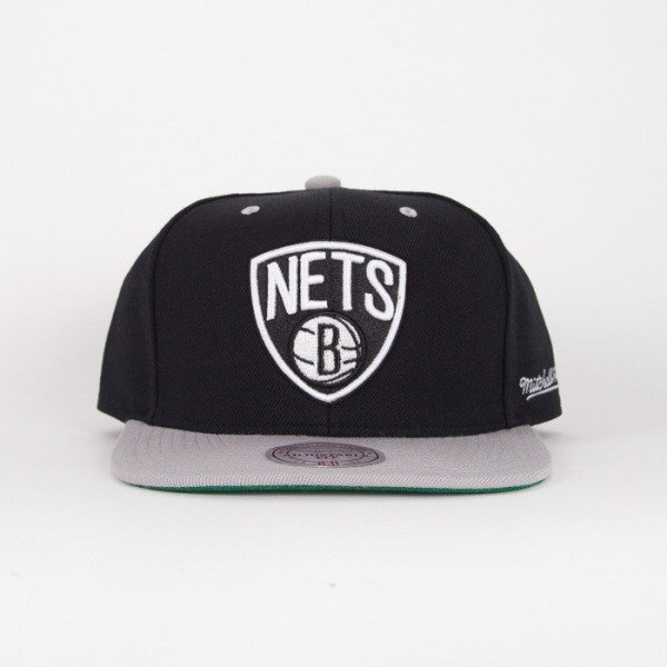 Mitchell & Ness cap snapback Brooklyn Nets black / grey Flipside