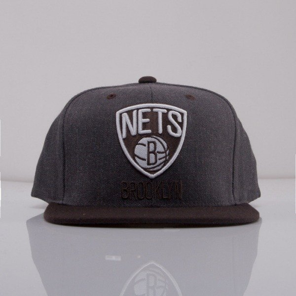 Mitchell & Ness cap snapback Brooklyn Nets dark grey Charcoal Dune 2Tone EU426