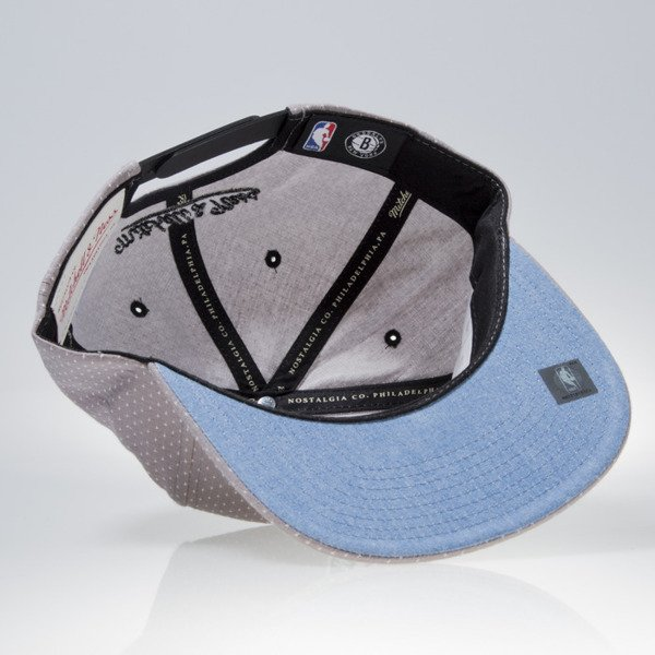 Mitchell & Ness cap snapback Brooklyn Nets grey DOTTED COTTON VQ94Z
