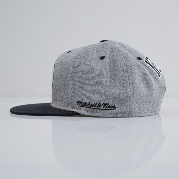 Mitchell & Ness cap snapback Brooklyn Nets heather grey EU438 BACKBOARD