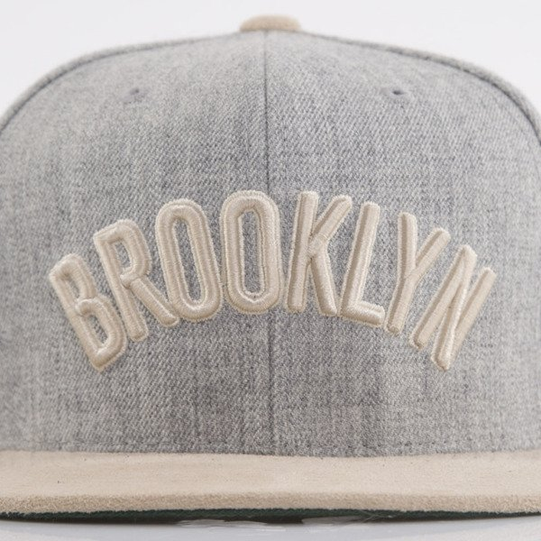 Mitchell & Ness cap snapback Brooklyn Nets heather grey NT42Z Heather Suede
