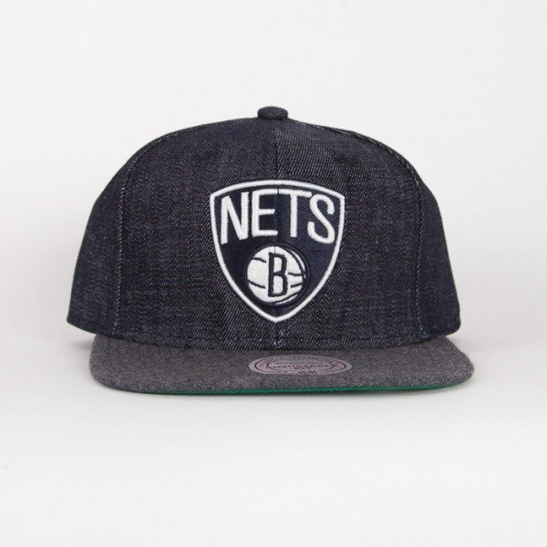 Mitchell & Ness cap snapback Brooklyn Nets navy Team UP