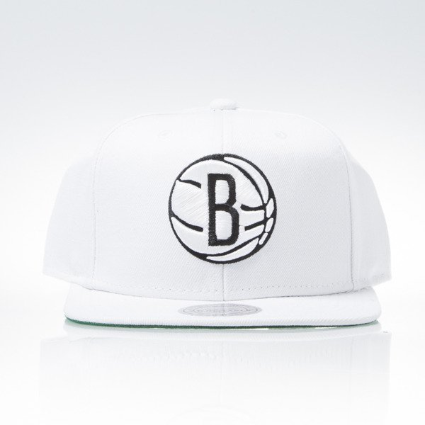 Mitchell & Ness cap snapback Brooklyn Nets white WOOL SOLID NT78Z