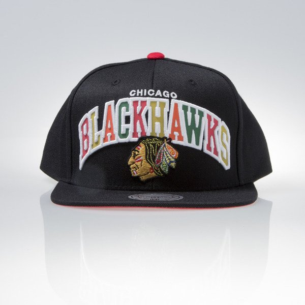 Mitchell & Ness cap snapback Chicago Blackhawks black REFLECTIVE TRI POP ARCH VQ87Z