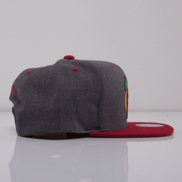 Mitchell & Ness cap snapback Chicago Blackhawks dark grey Charcoal Dune 2Tone EU426