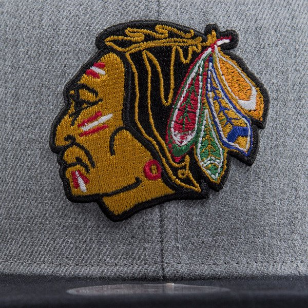 Mitchell & Ness cap snapback Chicago Blackhawks heather grey EU438 BACKBOARD