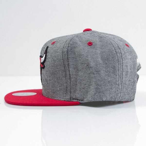 Mitchell & Ness cap snapback Chicago Bulls black Denim Harry VE87Z