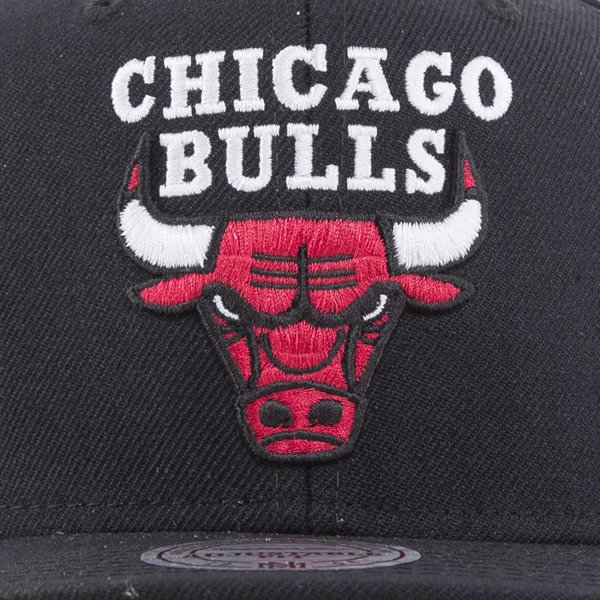 Mitchell & Ness cap snapback Chicago Bulls black SOLID 2 NL15Z