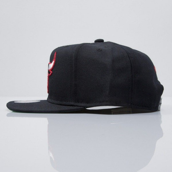 Mitchell & Ness cap snapback Chicago Bulls black WOOL SOLID NZ979