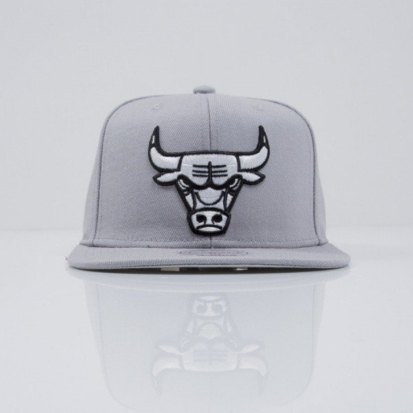 Mitchell & Ness cap snapback Chicago Bulls grey Logo Series VE31Z