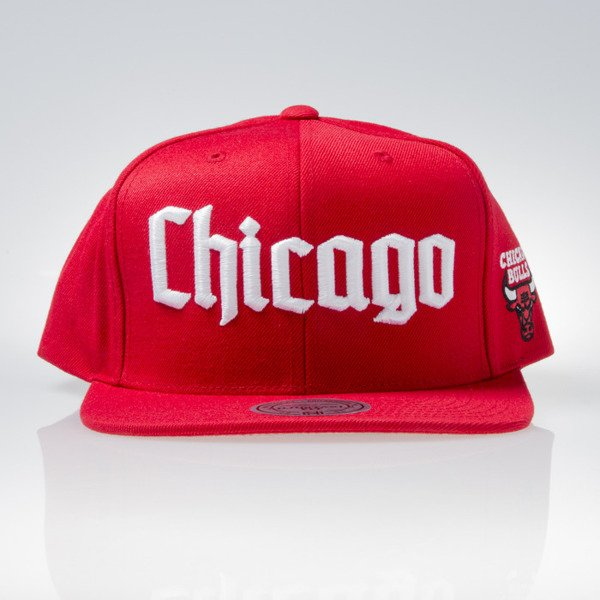 Mitchell & Ness cap snapback Chicago Bulls red GOTHAM CITY VW49Z