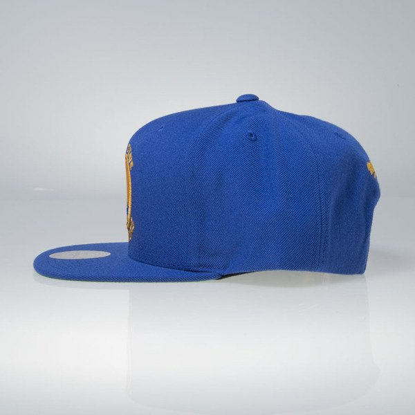 Mitchell & Ness cap snapback Golden State Warriors blue Wool Solid / Solid 2 NL99Z