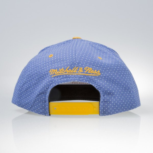 Mitchell & Ness cap snapback Golden State Warriors royal DOTTED COTTON VQ94Z