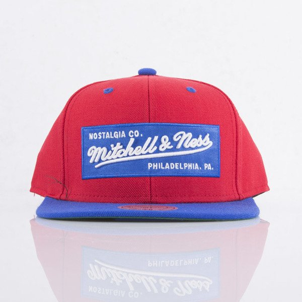 Mitchell & Ness cap snapback Logo red / royal 2Tone Label NE18Z