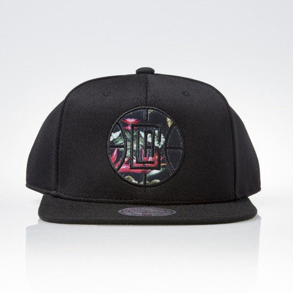 Mitchell & Ness cap snapback Los Angeles Clippers black FLORAL INFILL EU884