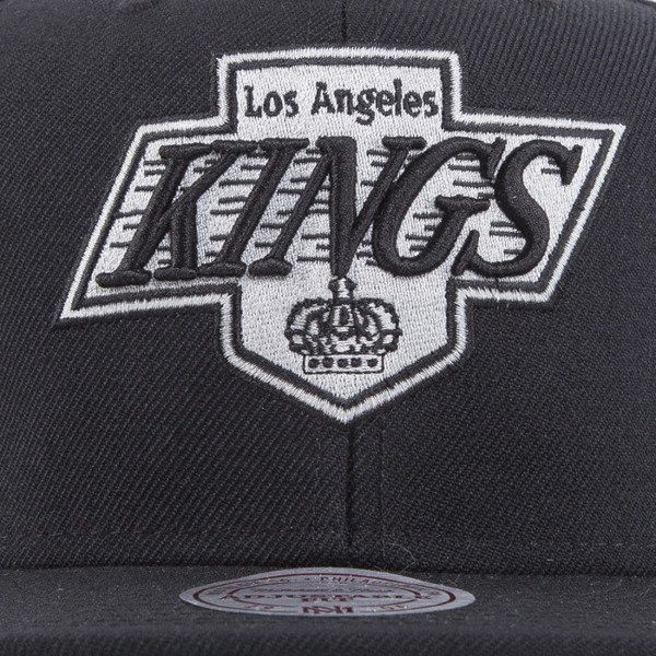 Mitchell & Ness cap snapback Los Angeles Kings black WOOL SOLID NL17Z