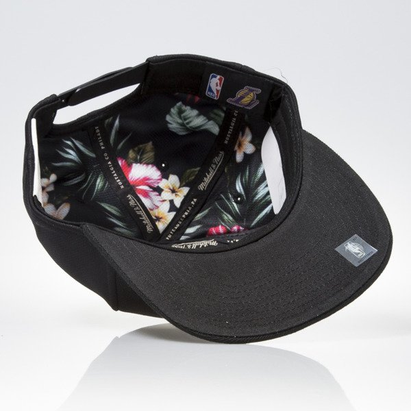 Mitchell & Ness cap snapback Los Angeles Lakers black FLORAL INFILL EU884