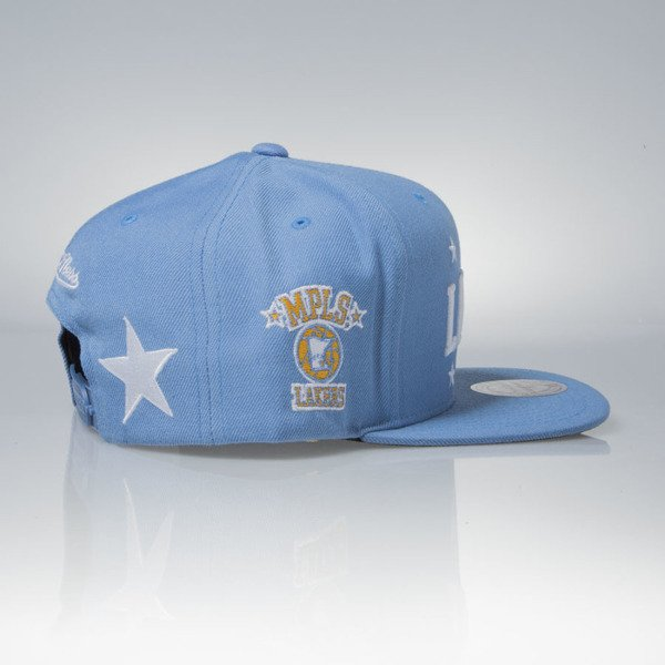 Mitchell & Ness cap snapback Los Angeles Lakers blue Heritage Land O'Lakes Champions VP10Z