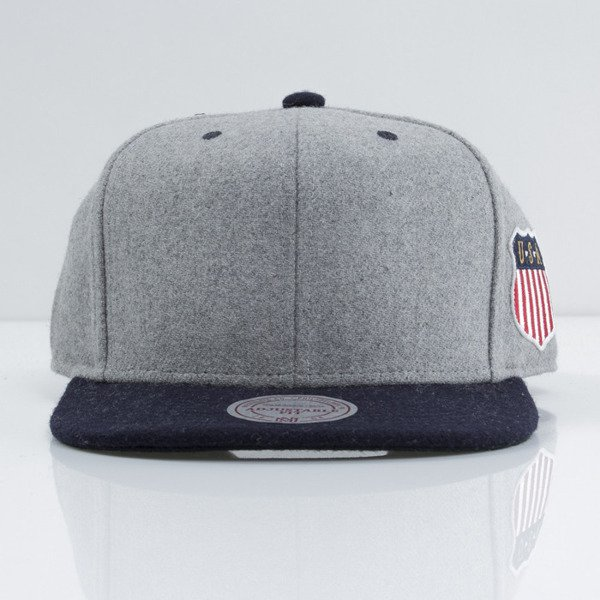 Mitchell & Ness cap snapback M&N grey / navy Retro Melton Wool VF58Z