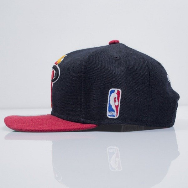 Mitchell & Ness cap snapback Miami Heat black XL Logo 2Tone NJ16Z