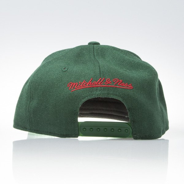 Mitchell & Ness cap snapback Milwaukee Bucks green SOLID TEAM NL99Z