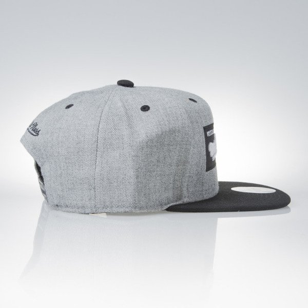 Mitchell & Ness cap snapback Mitchell and Ness Logo grey heather / black M&N Box Logo NE18Z