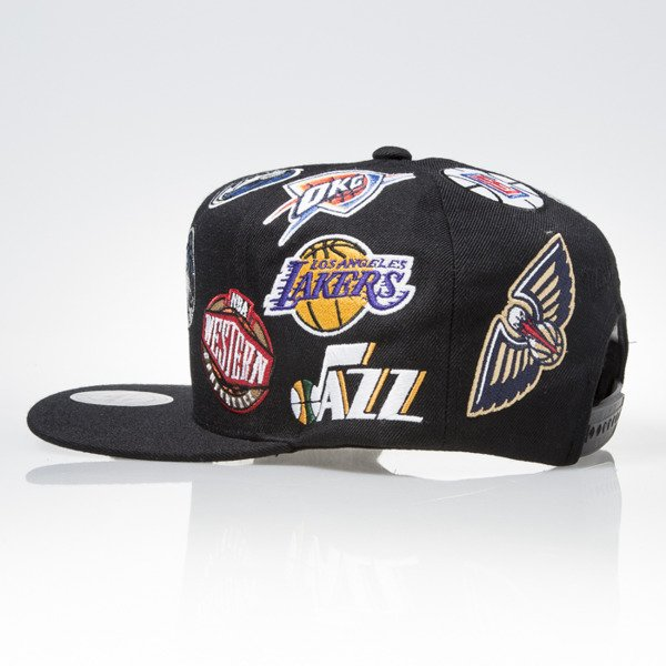 Mitchell & Ness cap snapback NBA Western black ALL OVER EU879