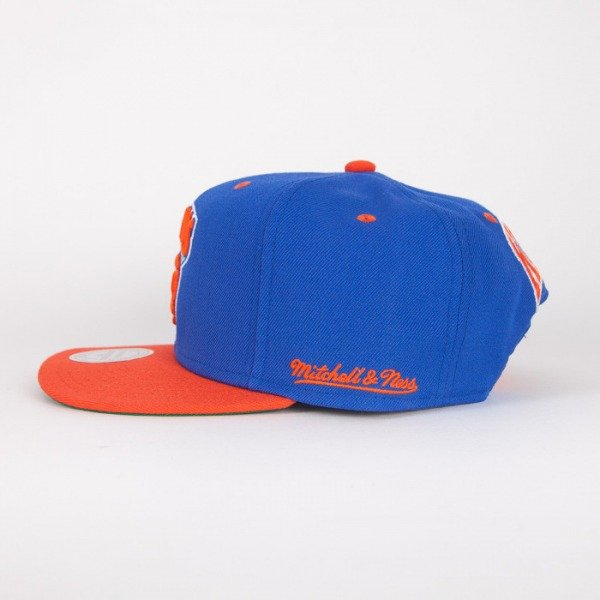 Mitchell & Ness cap snapback New York Knicks blue / orange Flipside