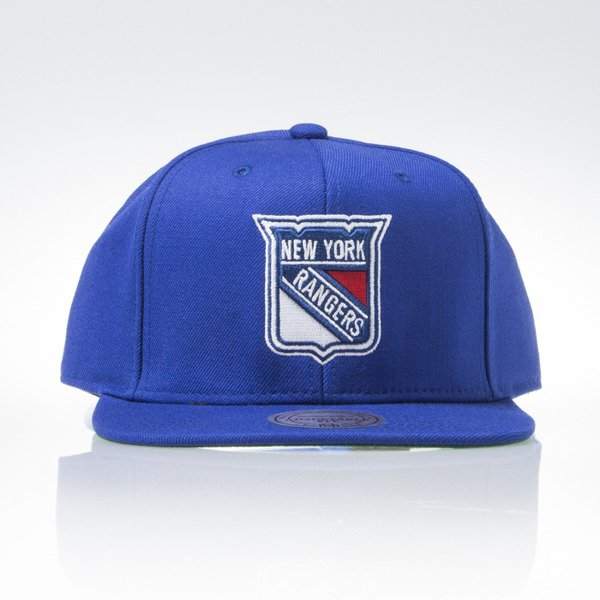 Mitchell & Ness cap snapback New York Rangers blue WOOL SOLID NZ980