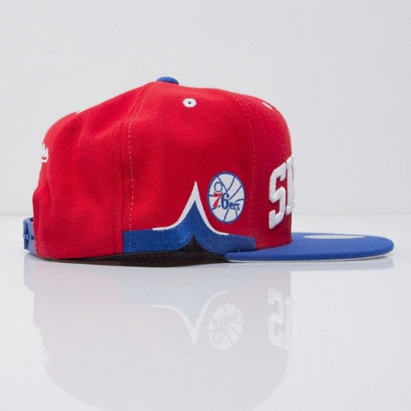 Mitchell & Ness cap snapback Philadelphia 76ers red Team Short Jersey VF73Z