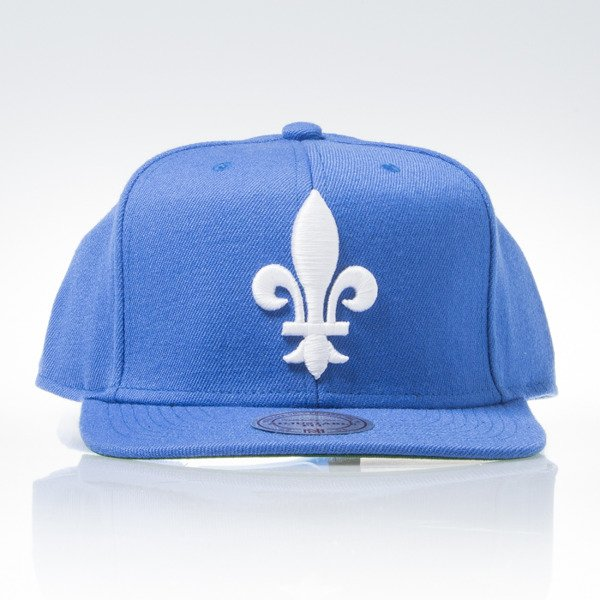Mitchell & Ness cap snapback Quebec Nordiques blue WOOL SOLID NZ980