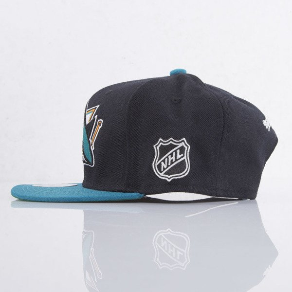 Mitchell & Ness cap snapback San Jose Sharks black  XL Logo 2Tone NJ27Z