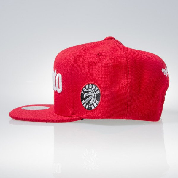 Mitchell & Ness cap snapback Torronto Raptors red GOTHAM CITY VW49Z