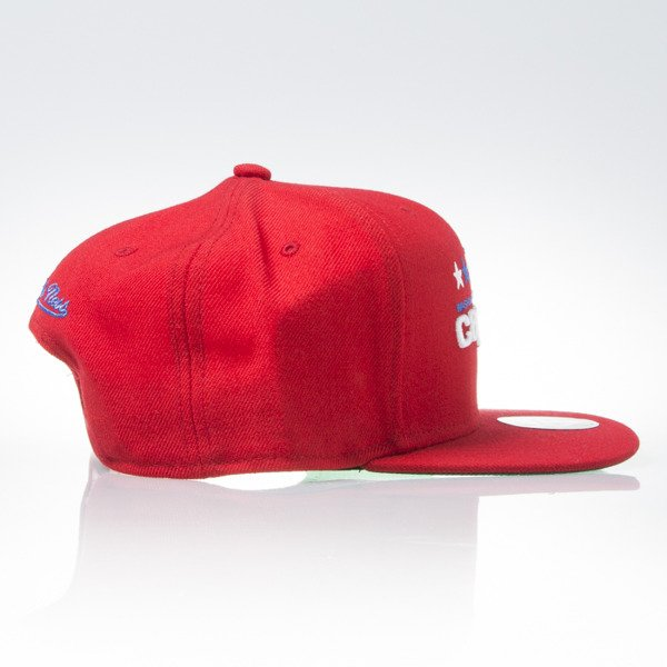 Mitchell & Ness cap snapback Washington Capitals red WOOL SOLID NZ980