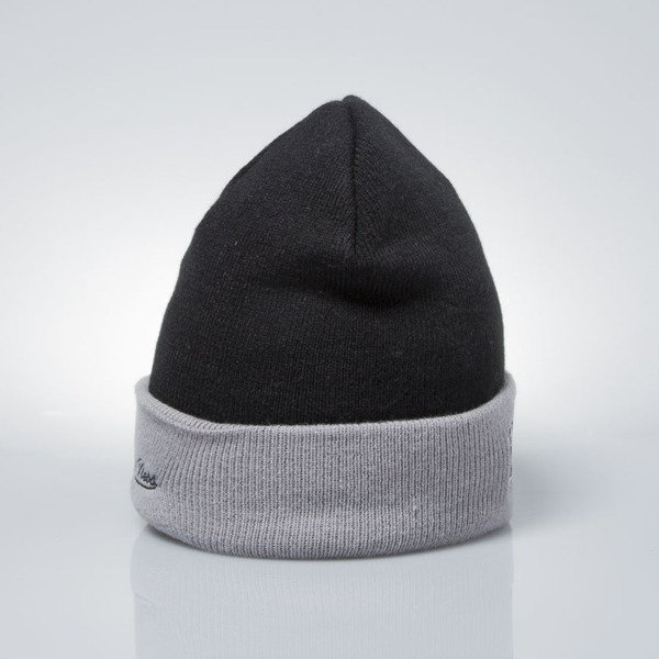 Mitchell & Ness czapka zimowa winter baenie Los Angeles Kings black / grey EU349 ARCHED CUFF KNIT