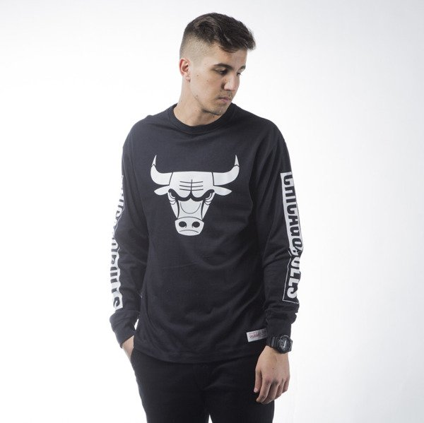 Mitchell & Ness longsleeve Chicago Bulls black  FREE THROW