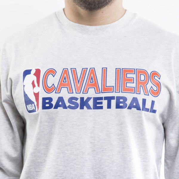 Mitchell & Ness longsleeve Cleveland Cavaliers light heather grey TEAM ISSUED